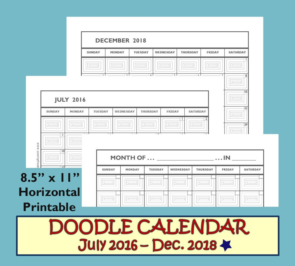 Monthly Calendar 2017-2018 Monthly Calendar Printable 2017