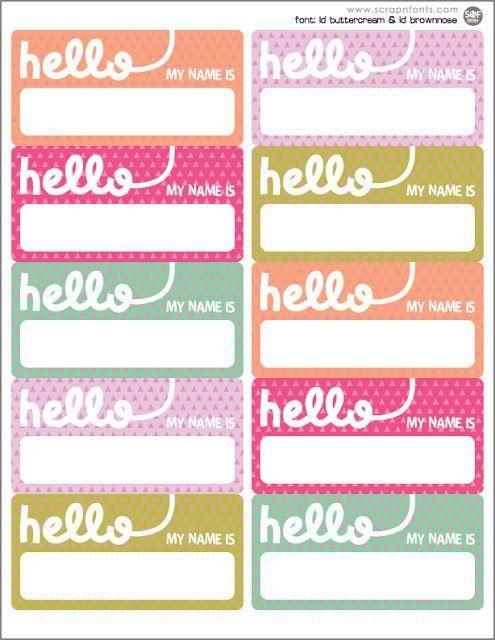 Name Tag Printables Desk Dec| Creative Name Tags
