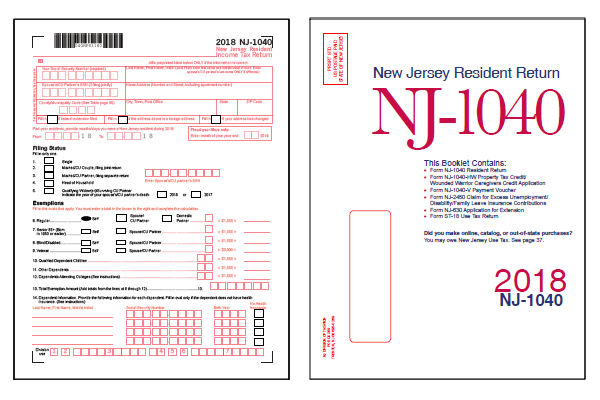 New Jersey Tax Forms 2018 : Printable State Nj-1040 Form