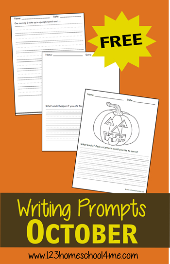 October Creative Writing Prompts | Writing Prompts For