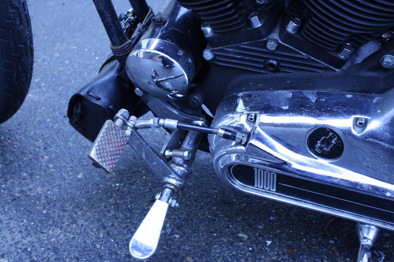 Old-Stf Cycle: Ironhead Sportster Jockey Shift