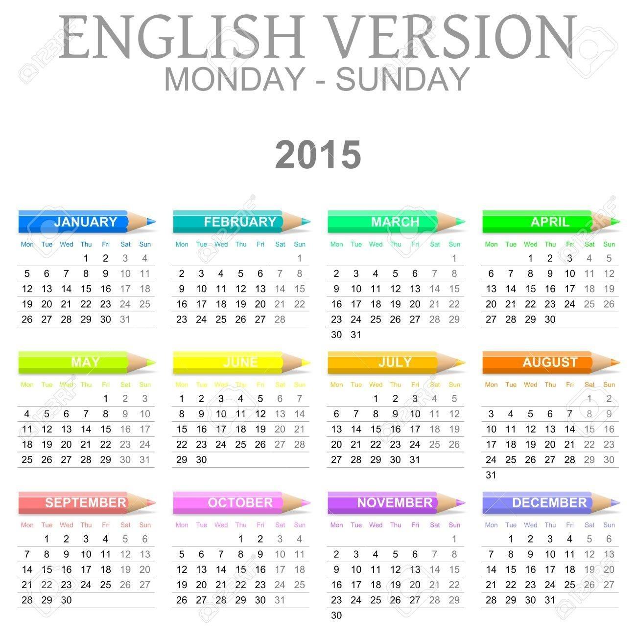 Perky Calendar Showing Monday Through Friday • Printable