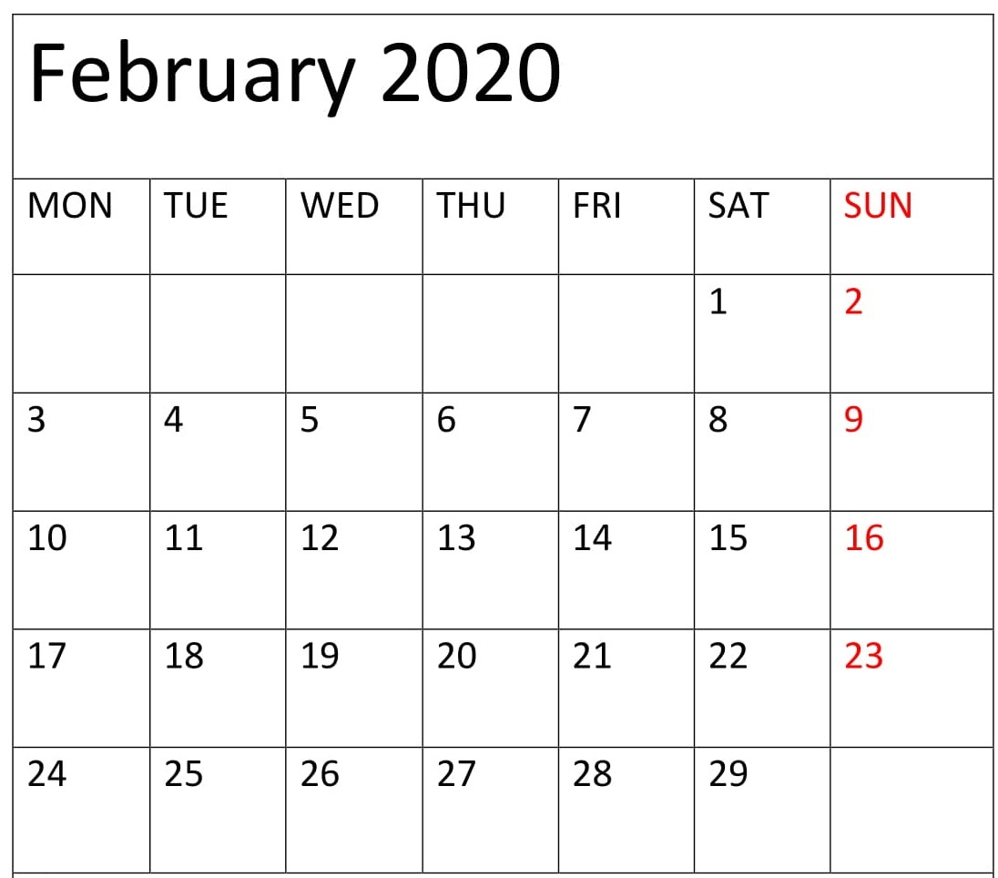 Printable 2020 Calendar With Week Numbers Excel | Calendar