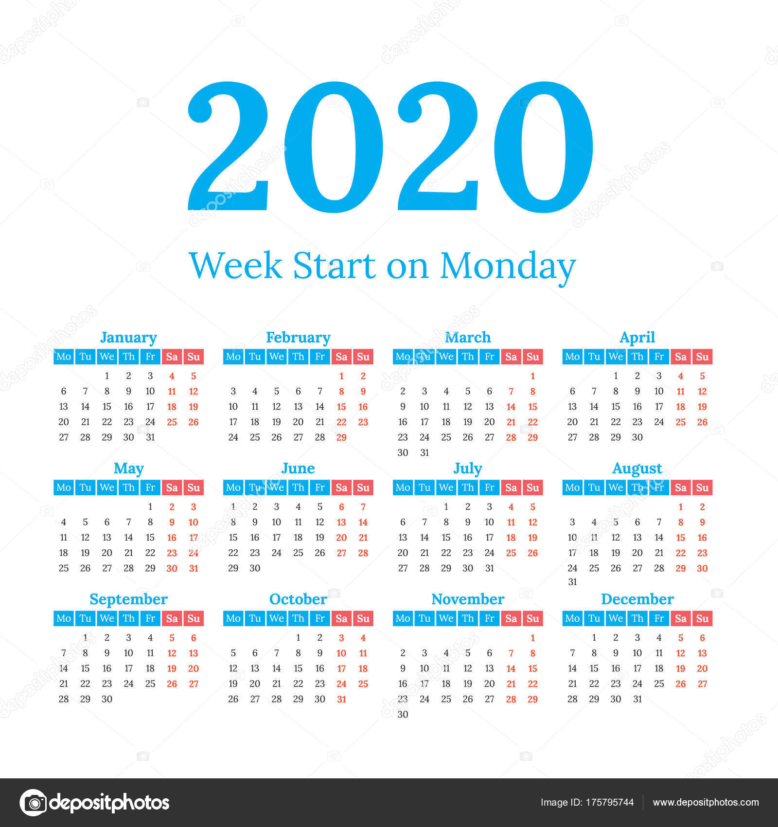 Printable 8.5 X 11 2020 Calendar | Calendar Template