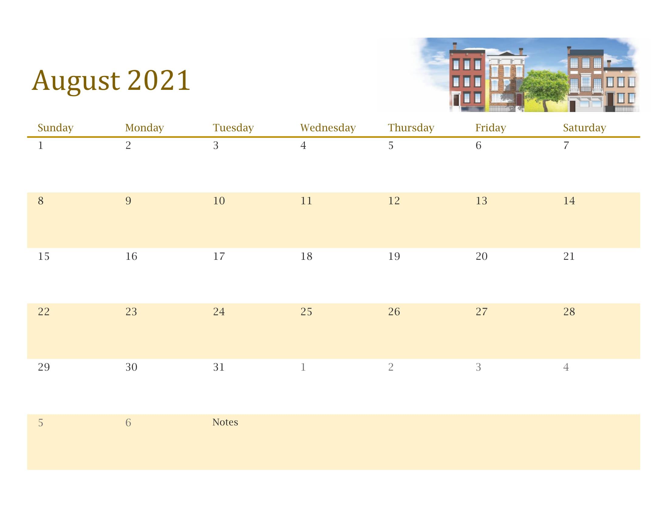 Printable Calendar August 2021 - Printable Calendar