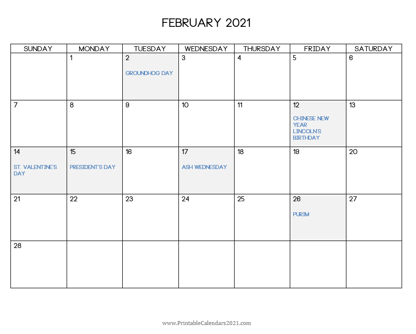 2021 Print Free Calendars Without Downloading | Calendar ...