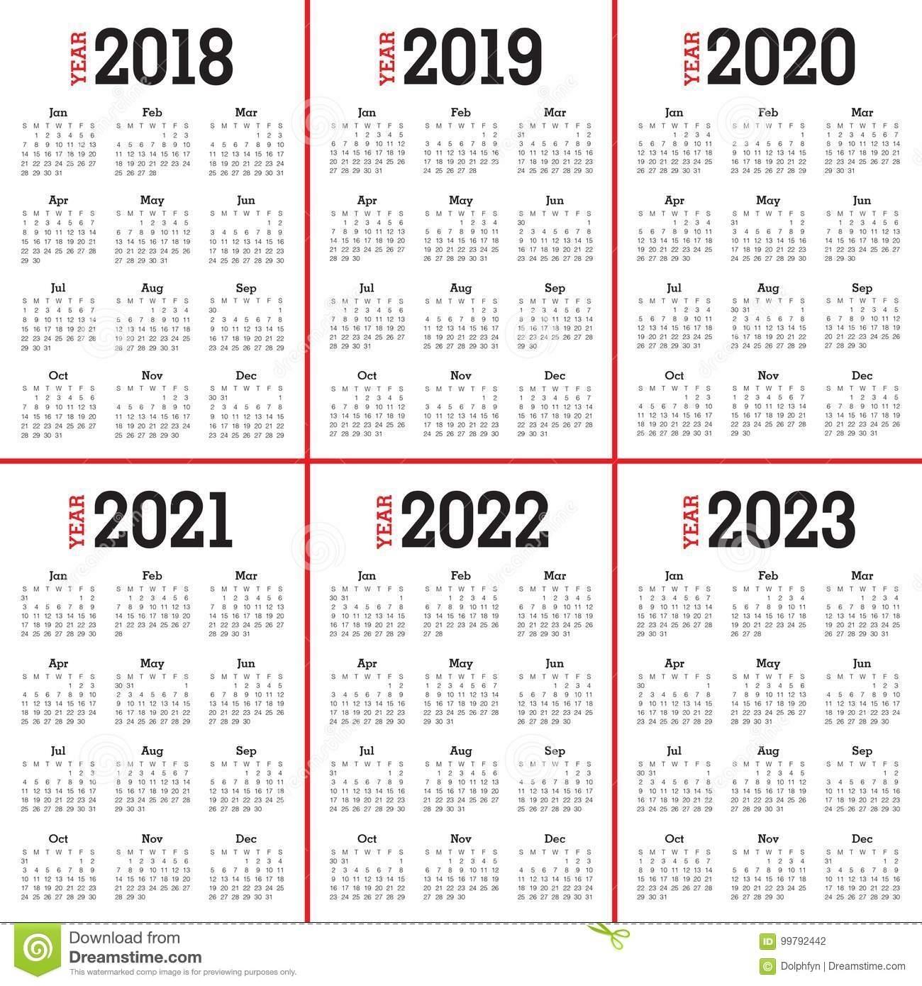 Printable Calendar For 2019/2020/2021/2022/2023 - Calendar