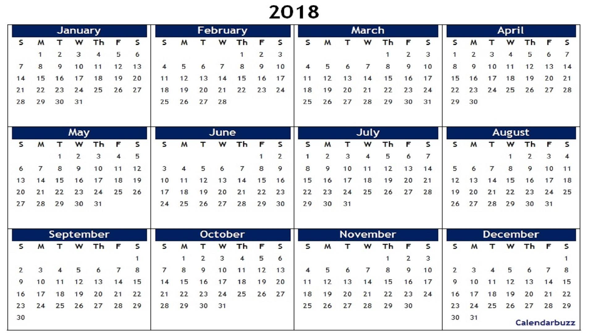 Printable Calendar Large Boxes Landscape | Month Calendar