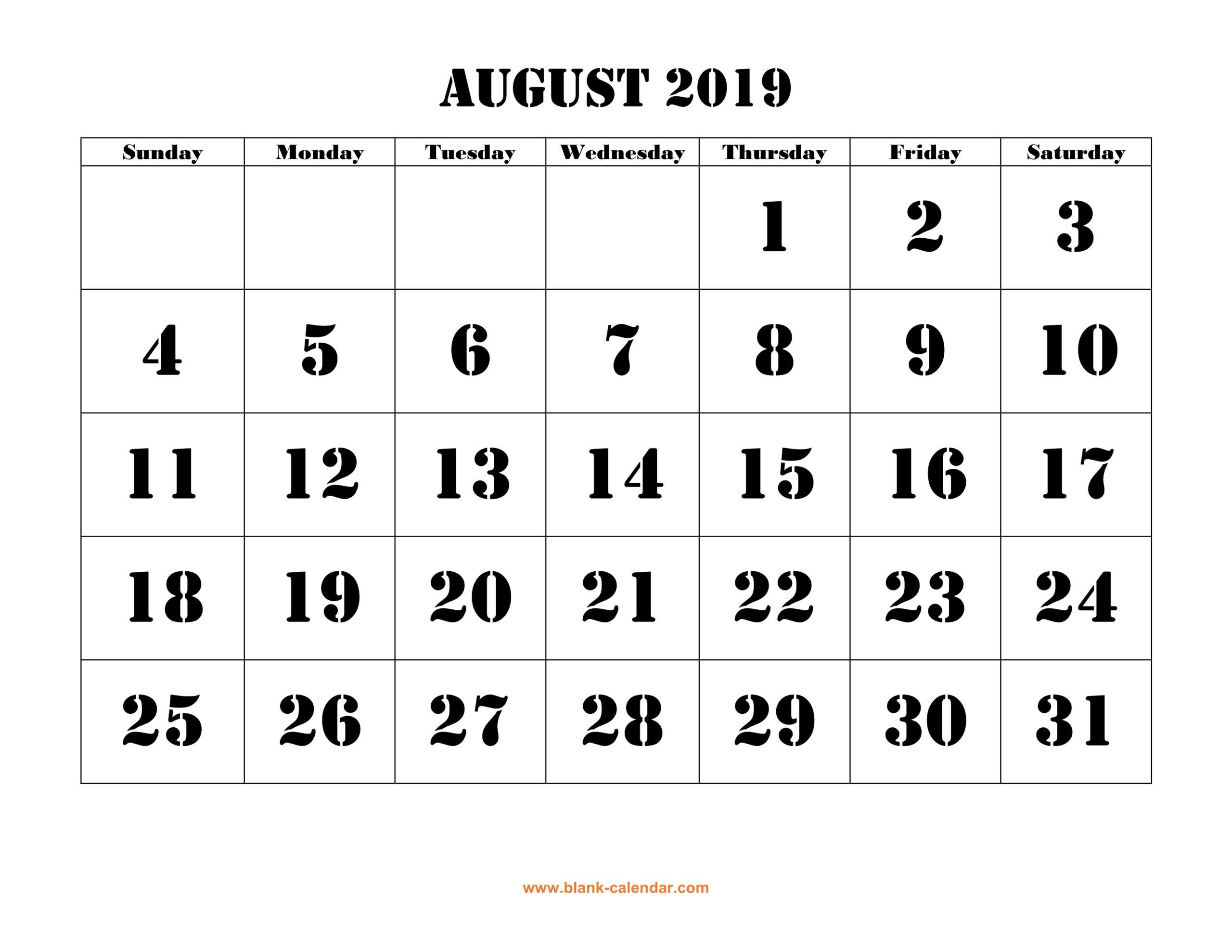 Printable Calendar Large Squares | Example Calendar Printable