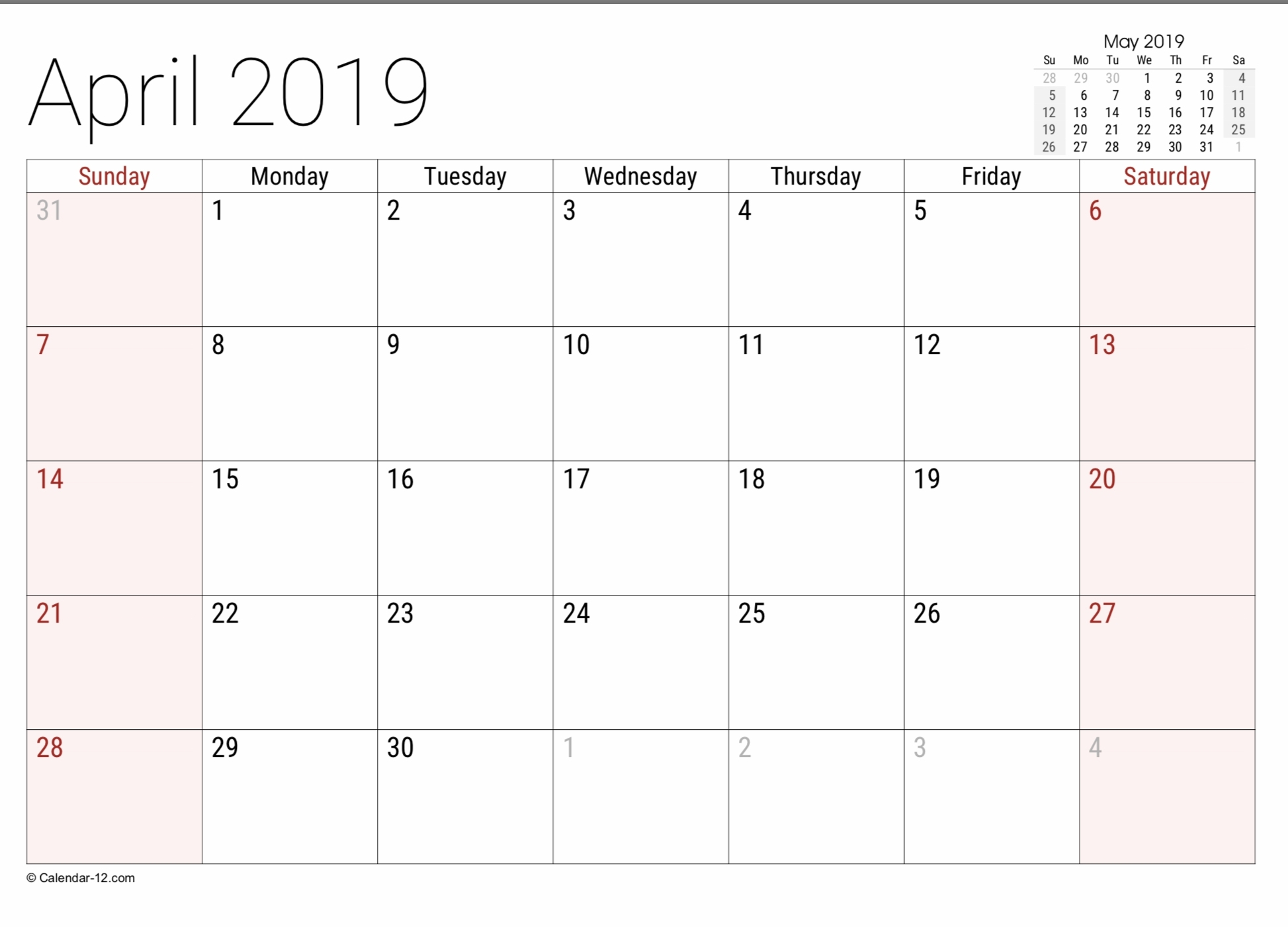Printable Calendar Legal Size Paper | Ten Free Printable