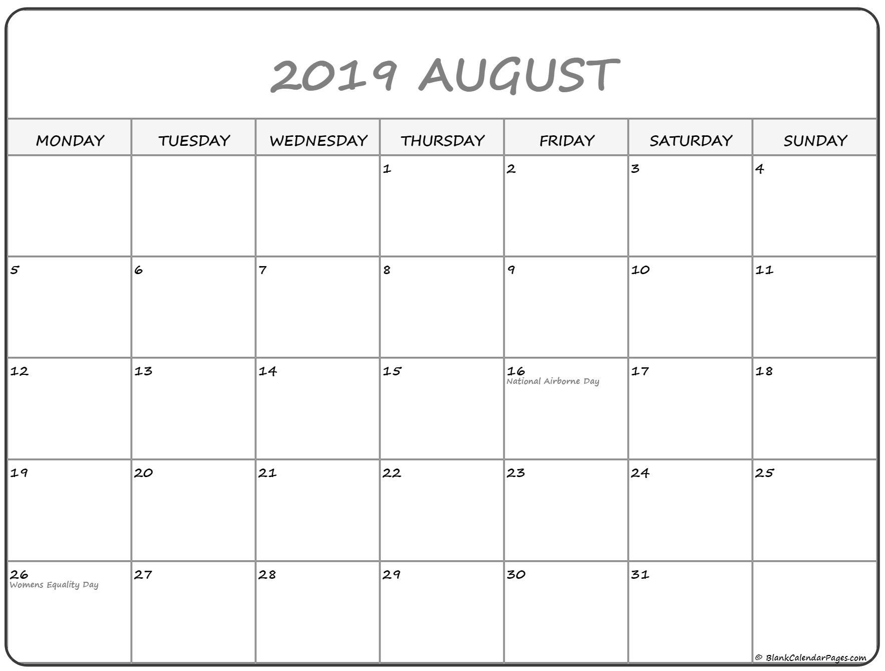 Printable Calendar Monday Start | Ten Free Printable