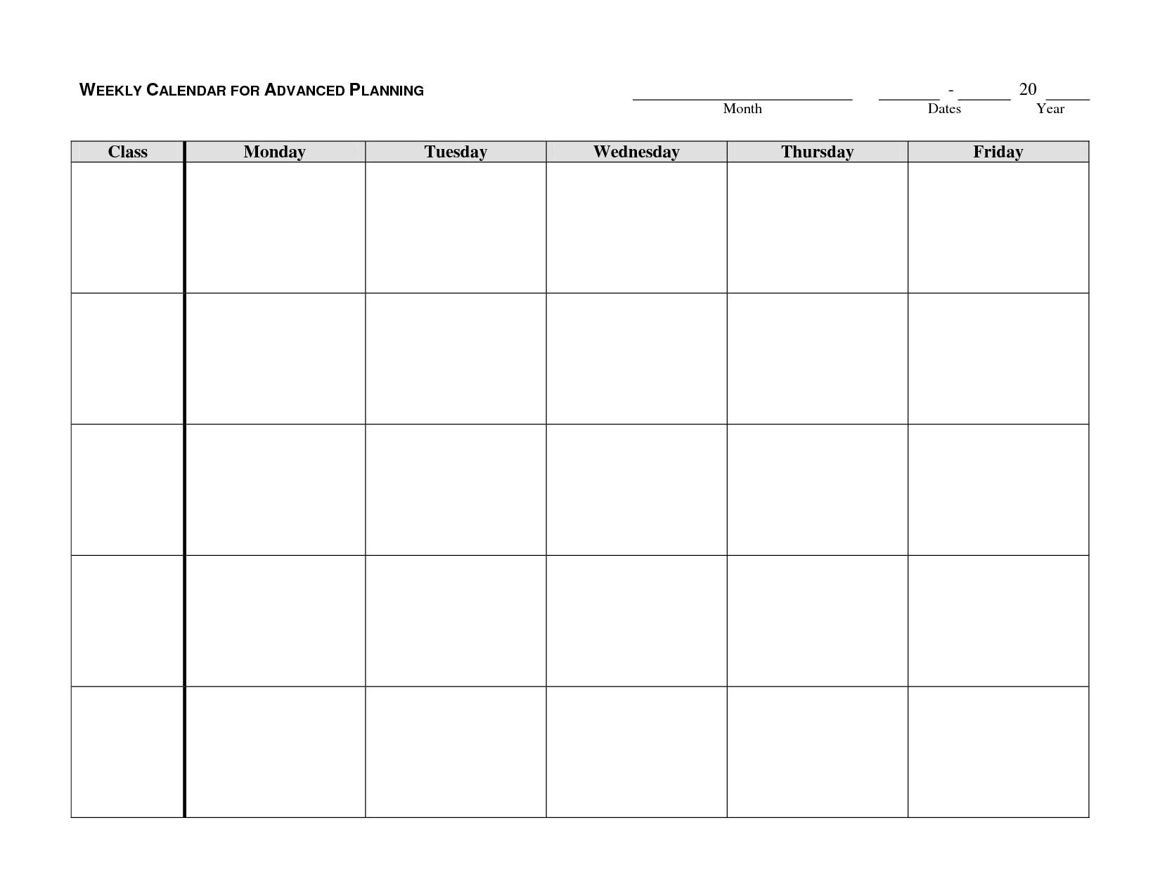 Printable Calendar Monday To Sunday | Ten Free Printable