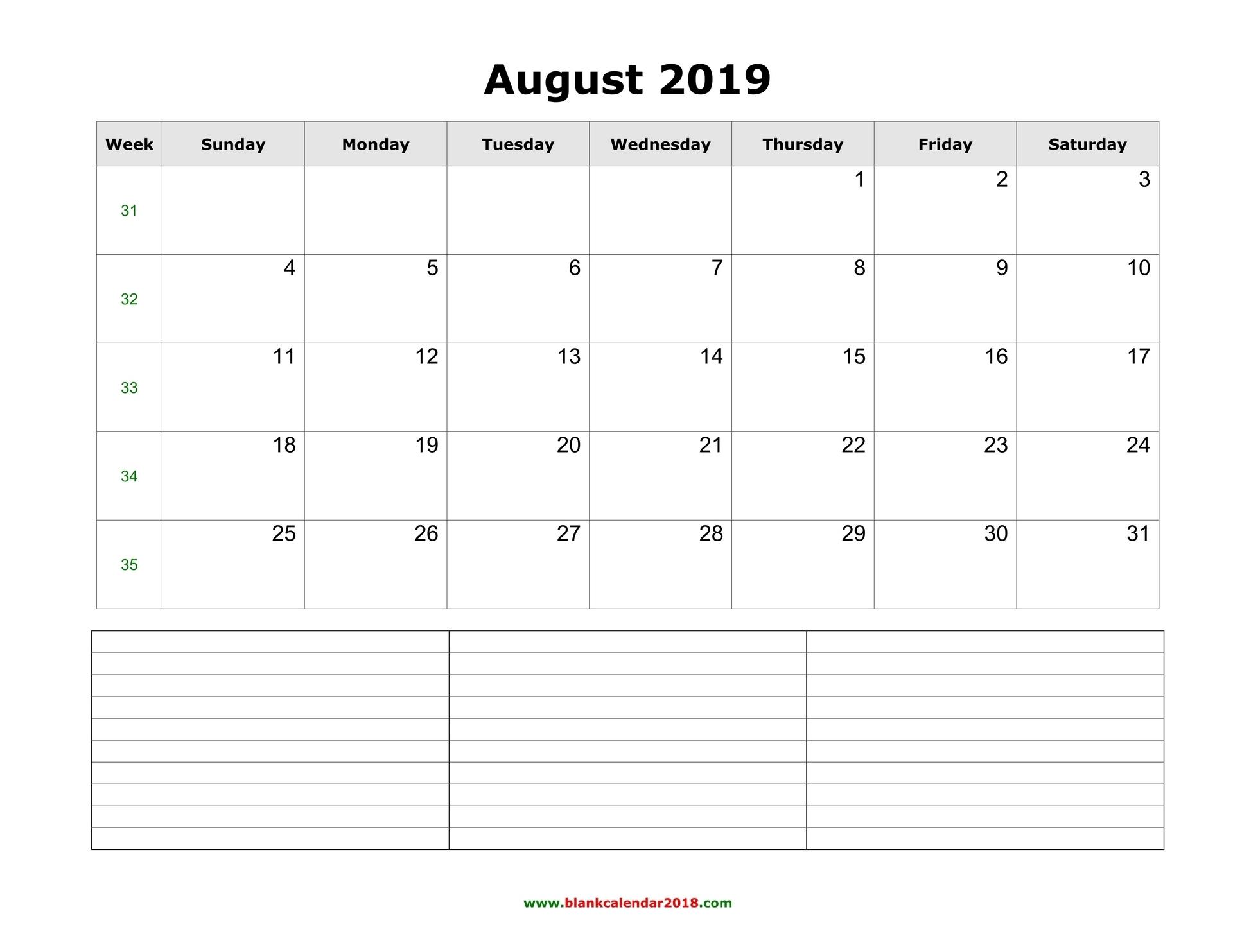 Printable Calendar Vertical List | Ten Free Printable
