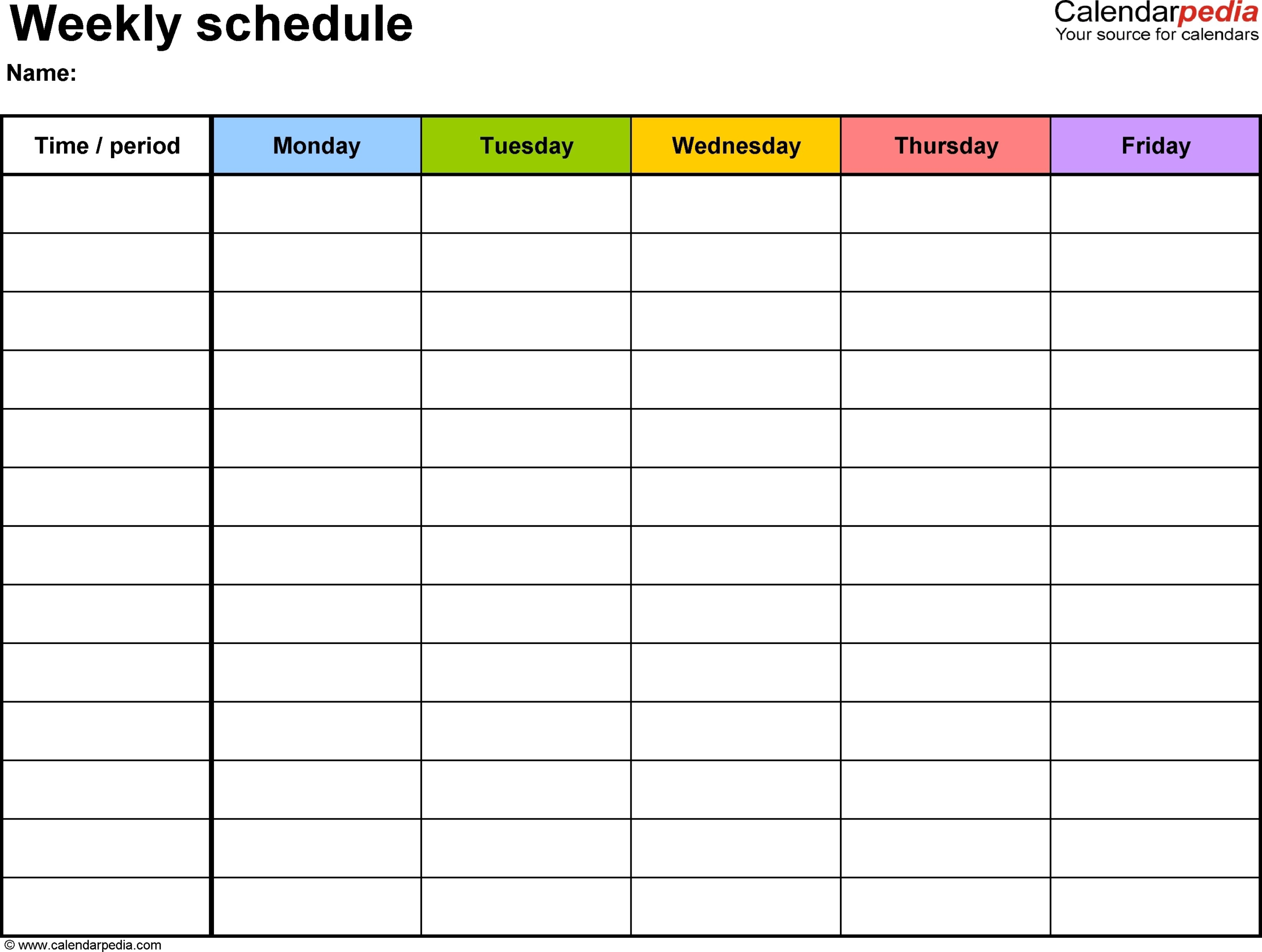 Printable Calendar With Time Slots | Ten Free Printable