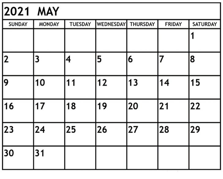 Printable Editable Calendar 2021 For Good Grades