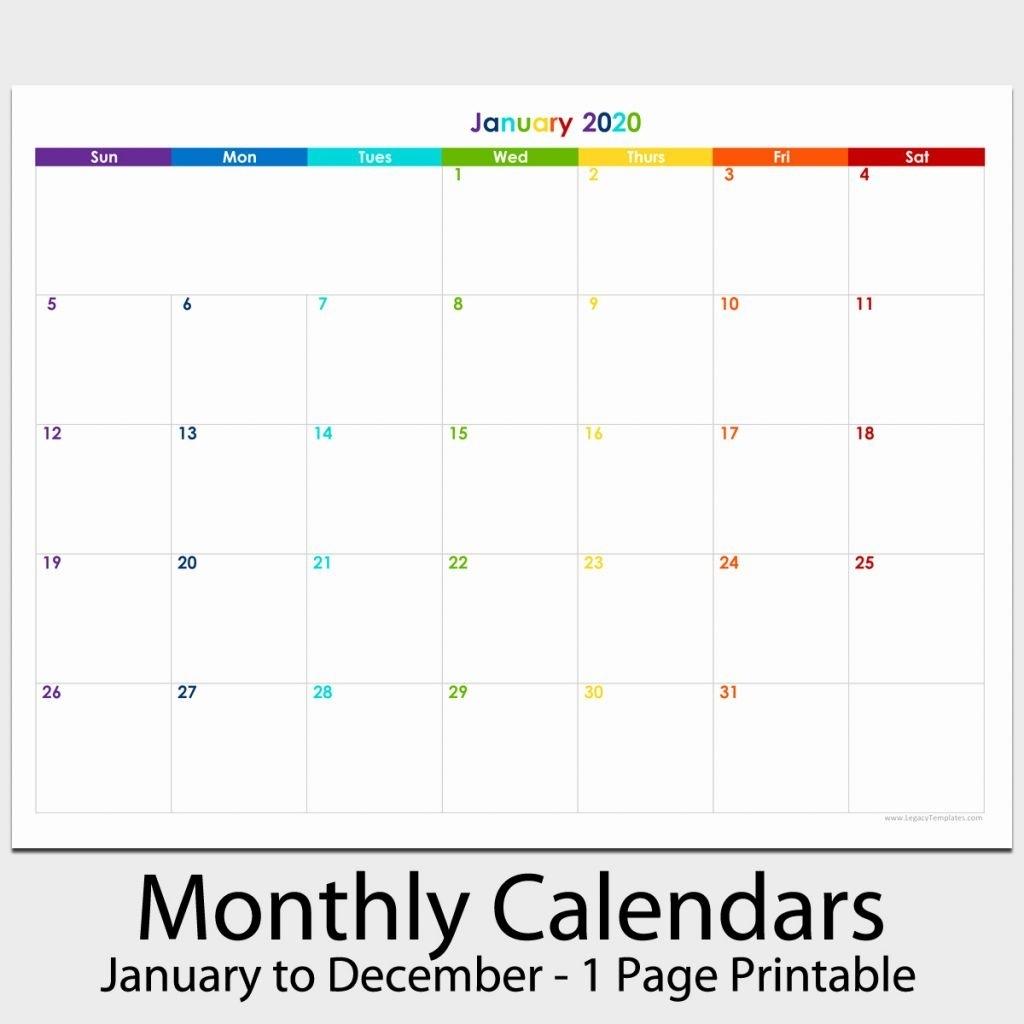 Printable Monthly Calendar 8.5 X 11 | Monthly Calendar