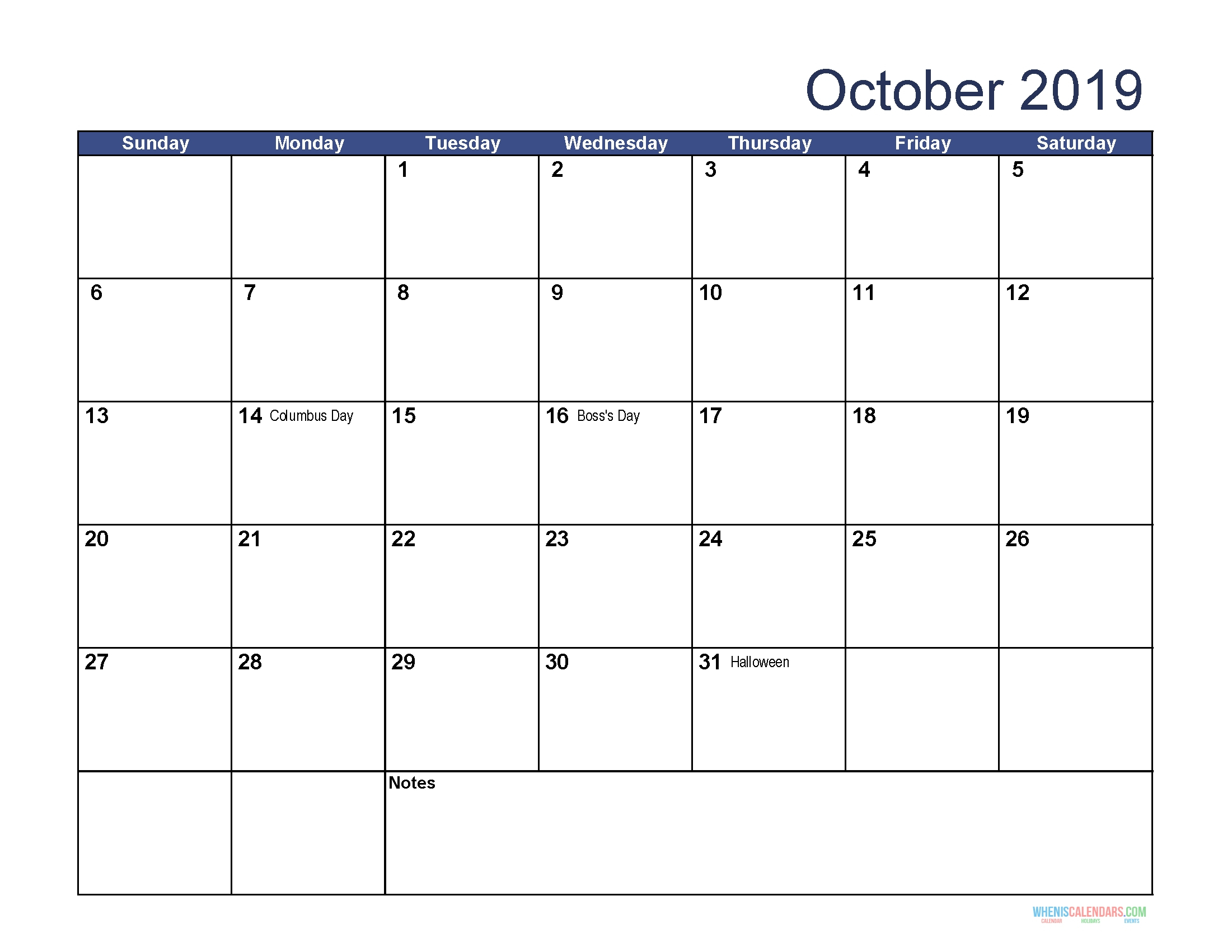 Printable Monthly Calendar Sunday To Saturday No Dates