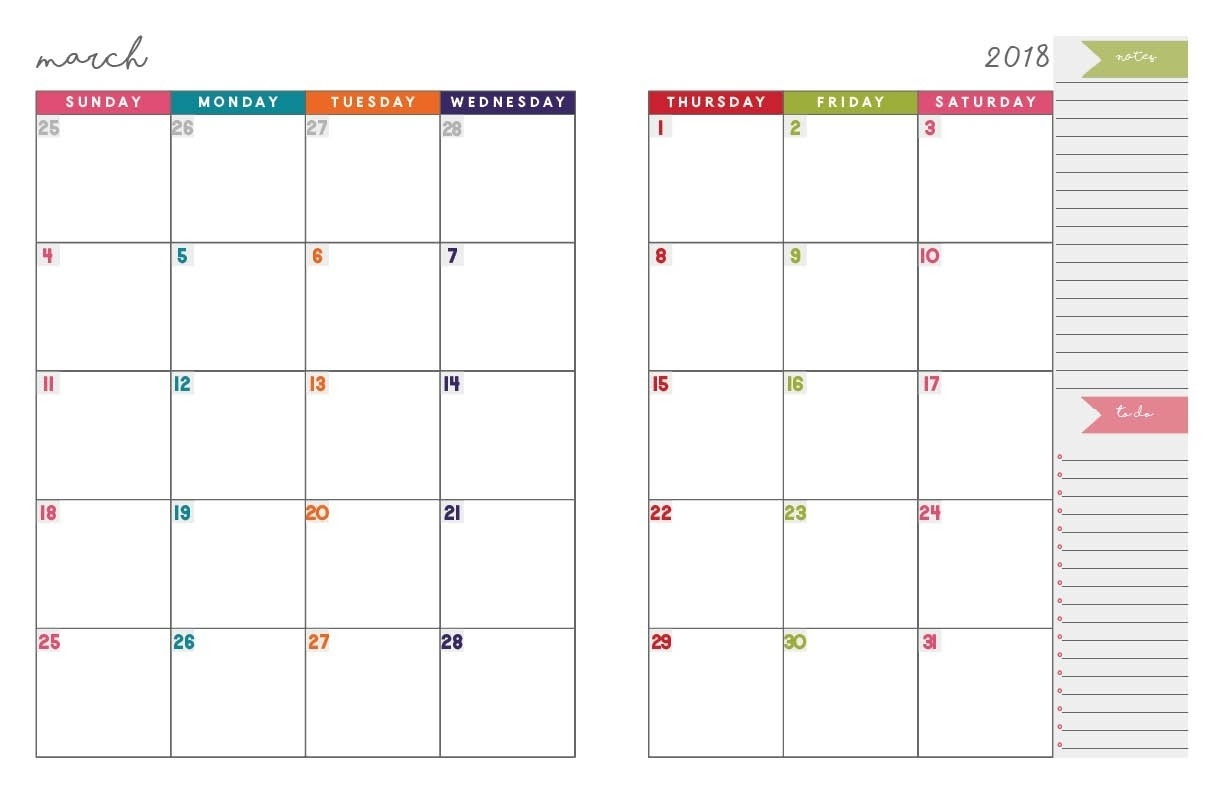 Printable Monthly Organiser Pages Monday To Sunday