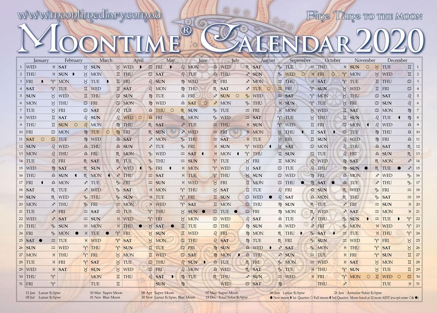 Solar Lunar Calendar – 2020 – Template Calendar Design