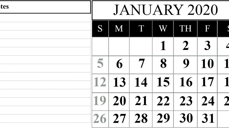 Take Large Numbers Free Printable Calendar 2020 | Calendar