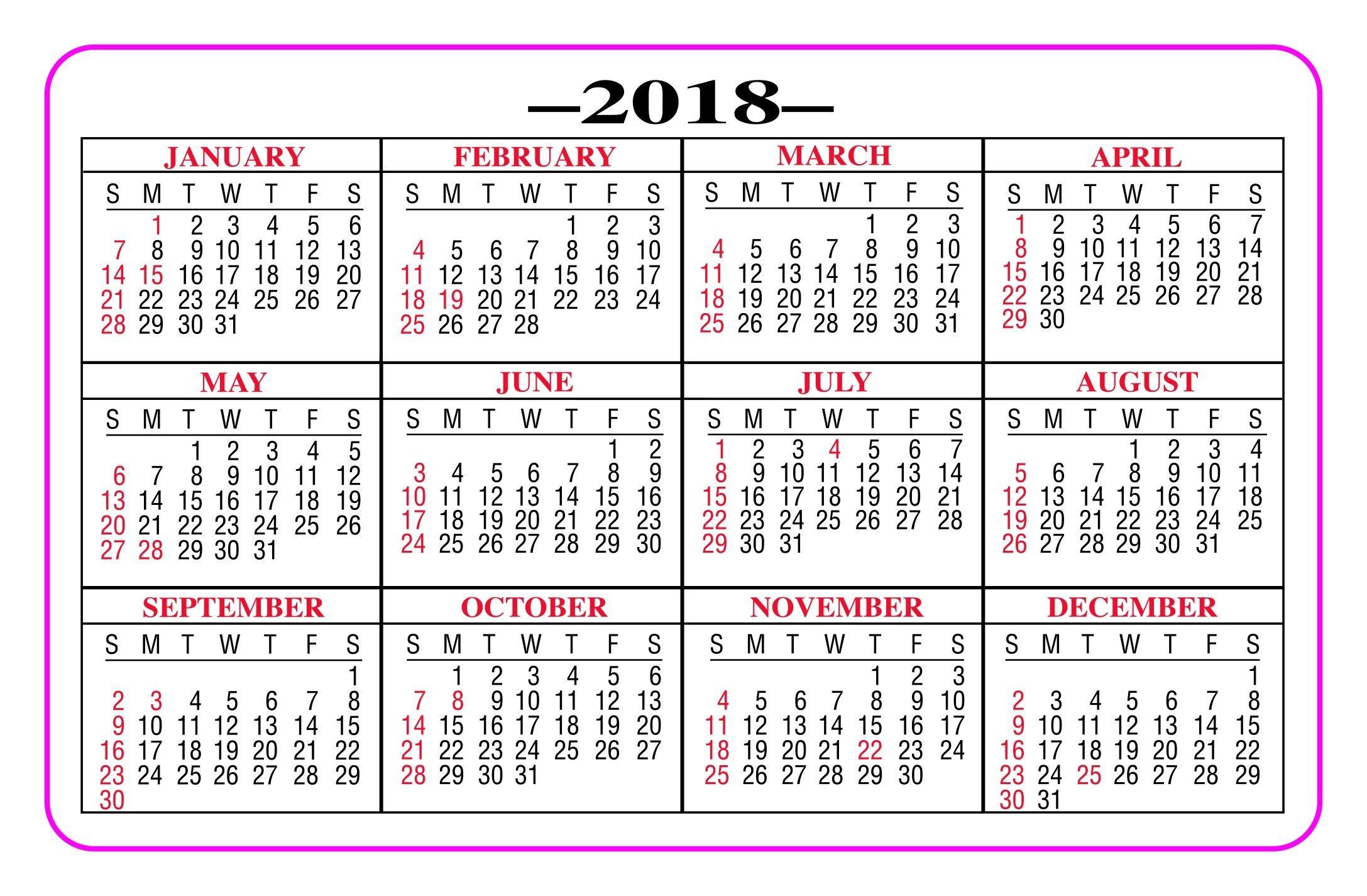 Take Printable Pocket Calendar Free 2020 | Calendar
