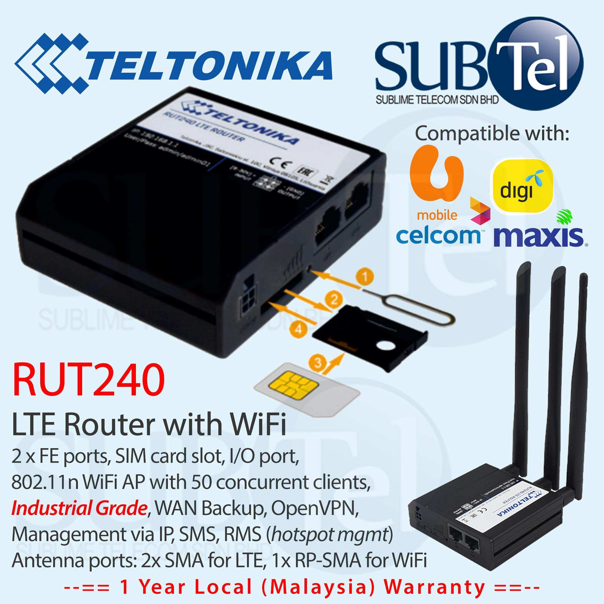Teltonika Rut240 Lte 4G 3G 2G Router (End 5/4/2021 12:00 Am)