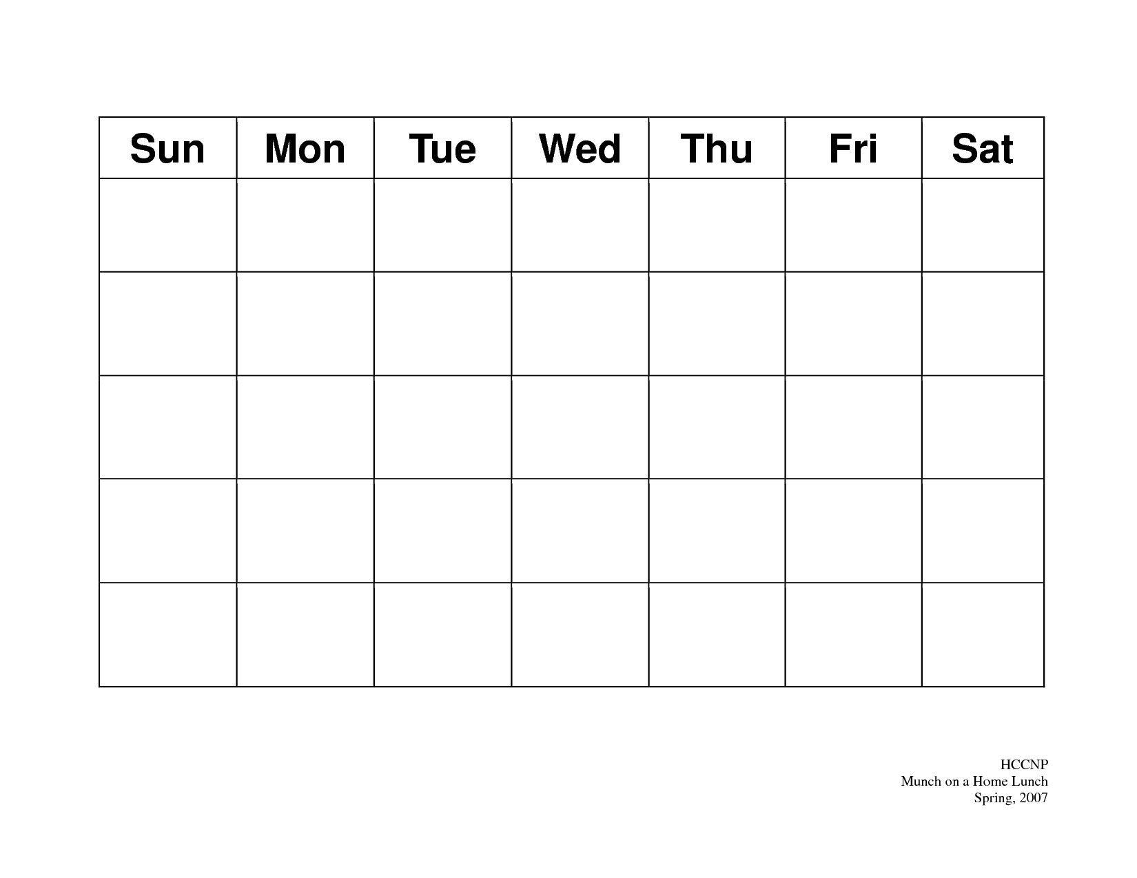 Unique Plain Calendar Printable (With Images) | Blank