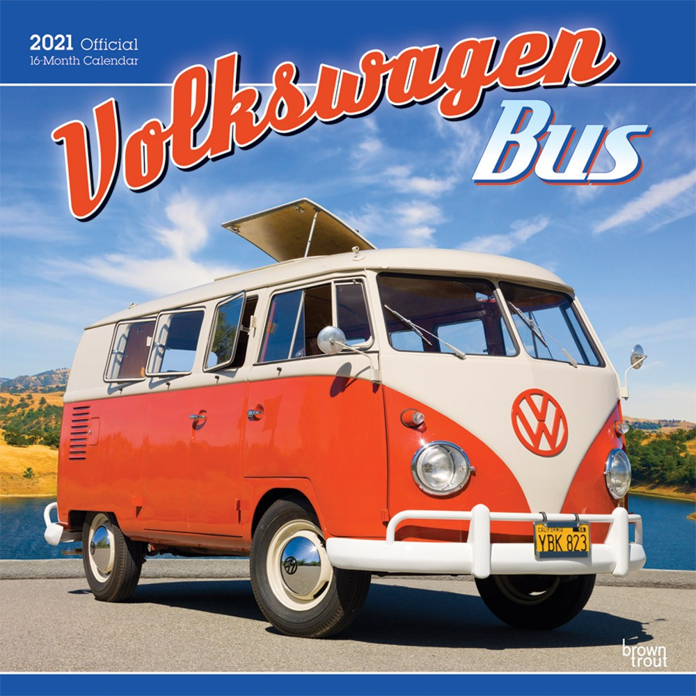 Volkswagen Bus 2021 12 X 12 Inch Monthly Square Wall Calendar