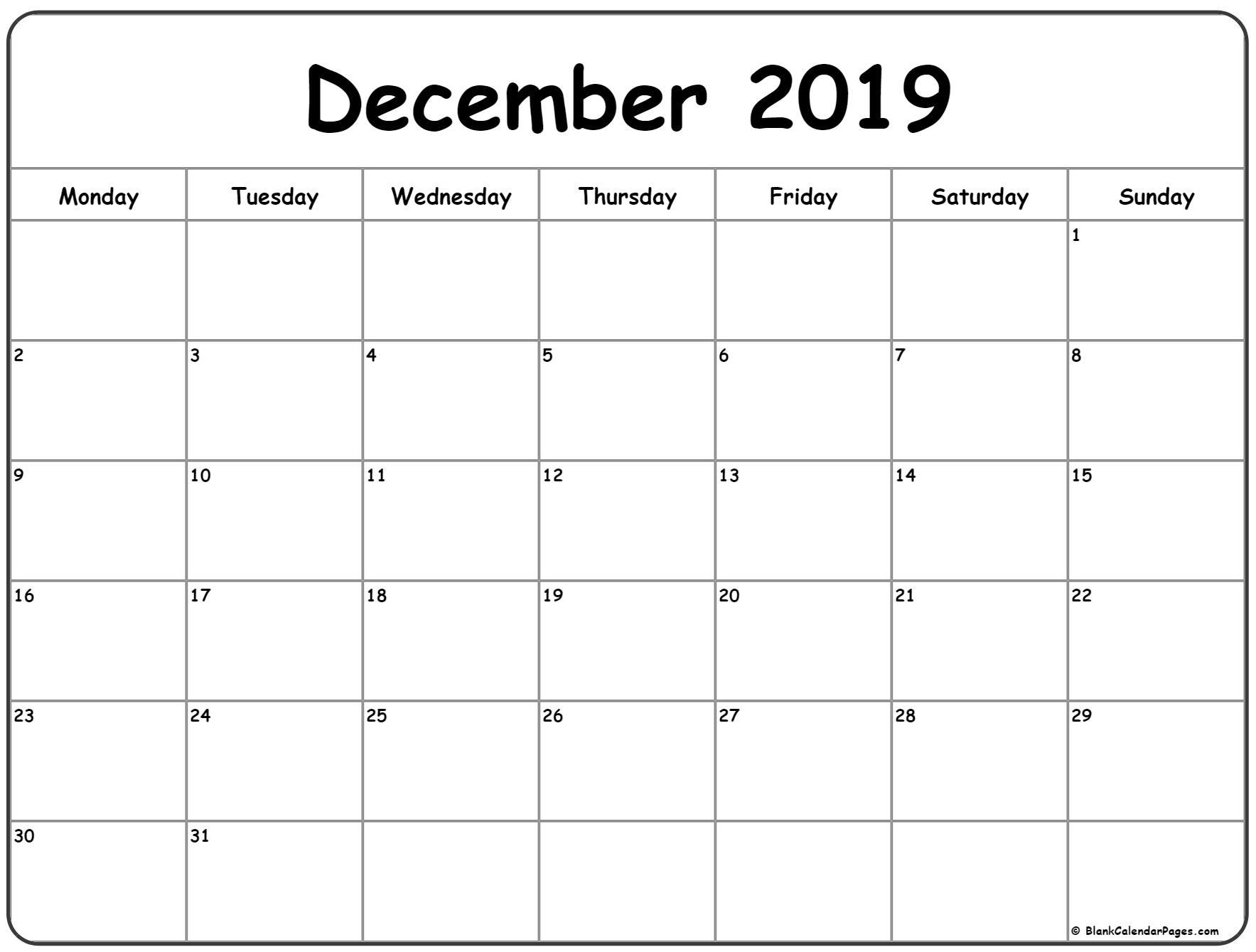 Week Calendar Monday To Sunday | Month Calendar Printable