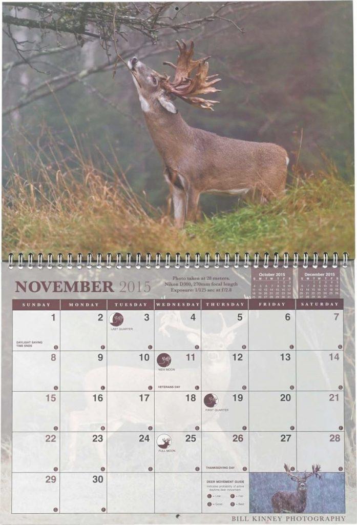 Whitetail Rut Calendar | Calendar Image 2019