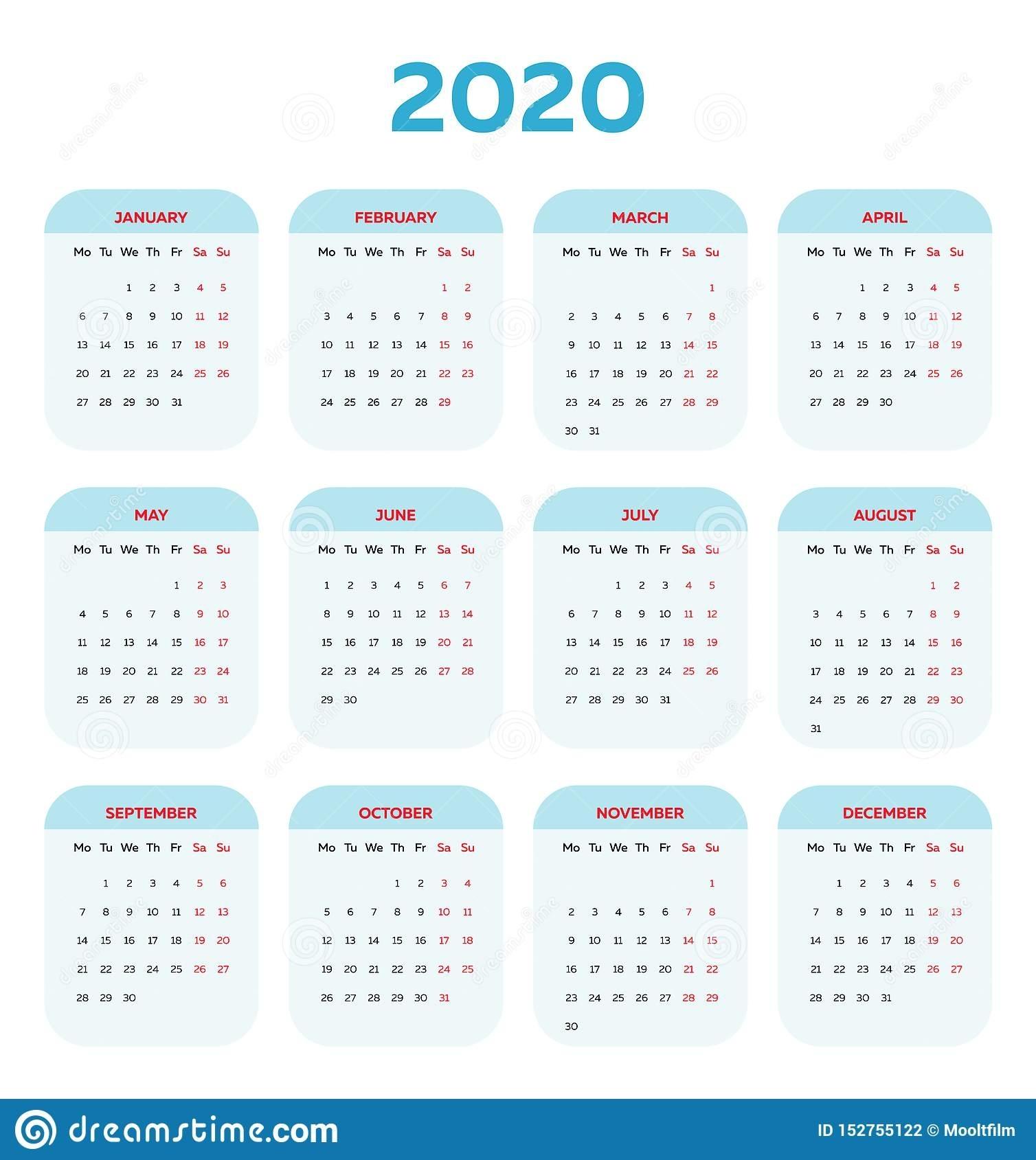 Year Calendar With Boxes | Ten Free Printable Calendar