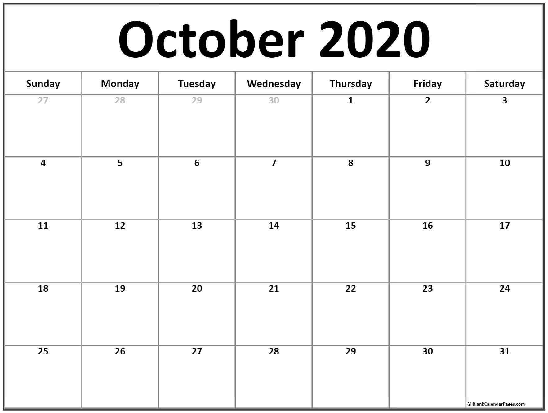 Zodiac Calendar October 2020 | Calendar Printables Free