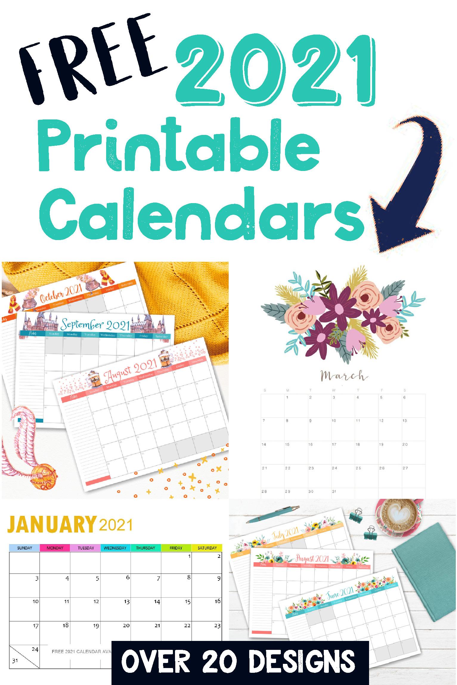 Free Printable 2021 Calendars - Crafting In The Rain