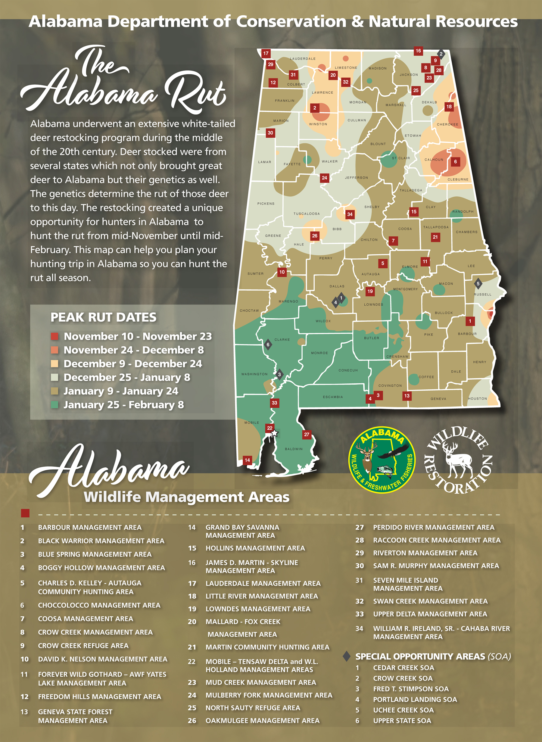 Hunters Can Use The Wff Rut Map To Determine The Likely