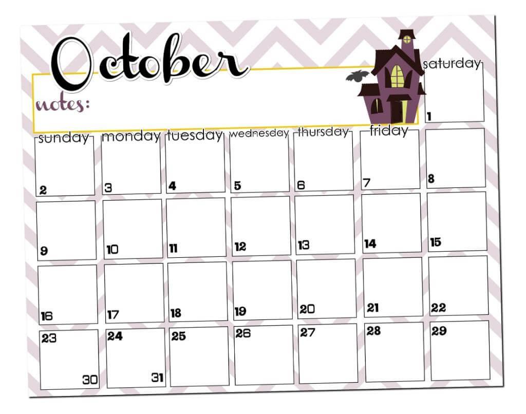 New October Calendar Printable | Free Printable Calendar Monthly