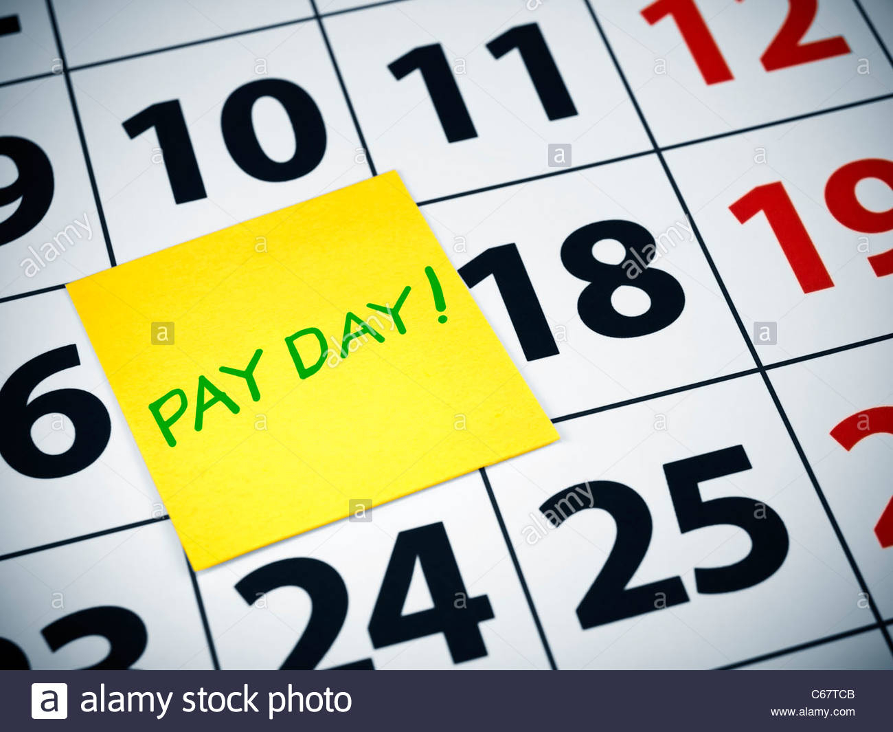 Pay Day Calendar High Resolution Stock Photography And
