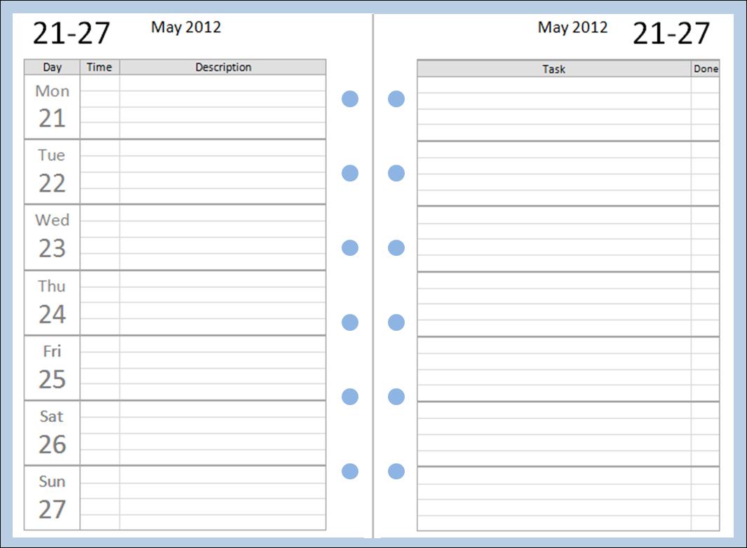 Philofaxy: Free Pocket Filofax Diary Layouts To Download