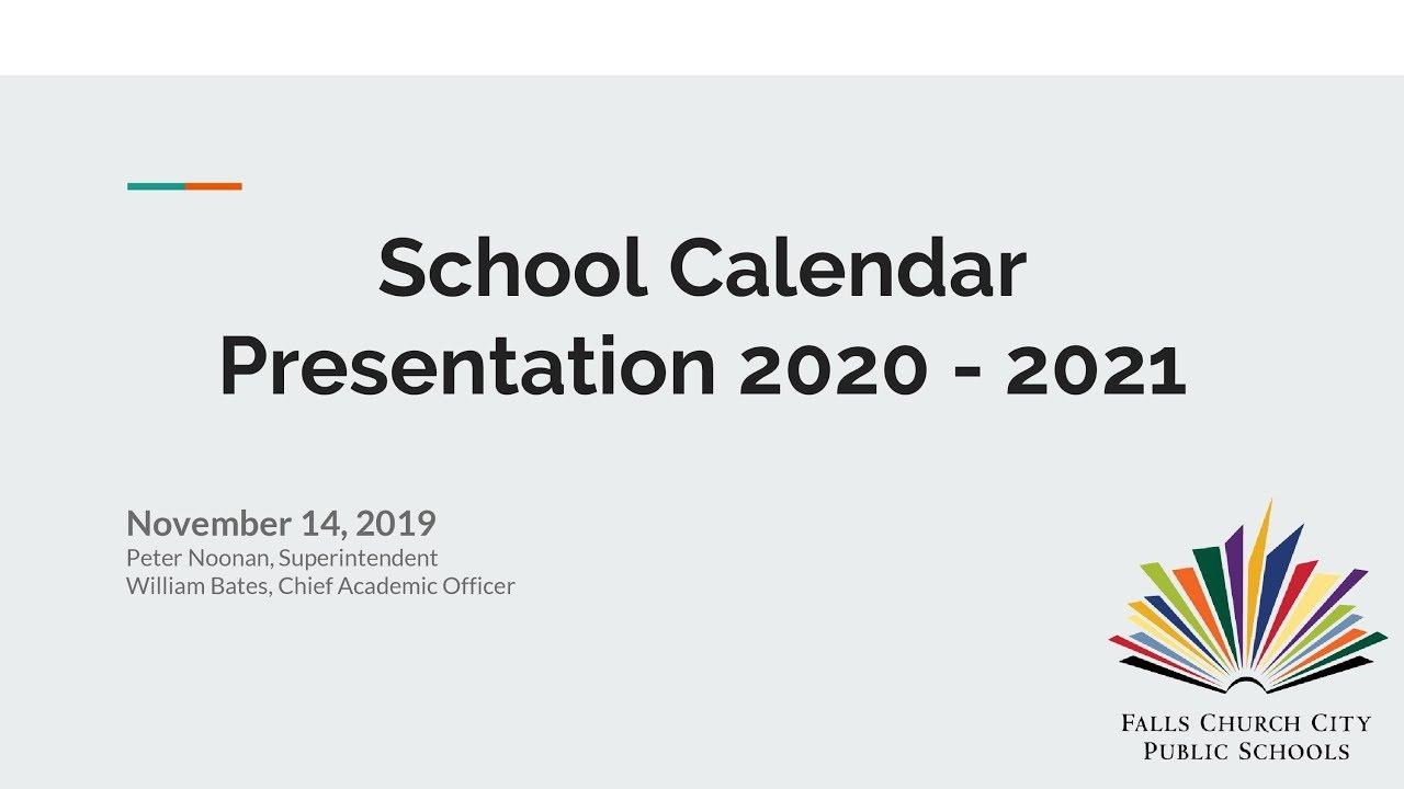 2020 School Start Date
