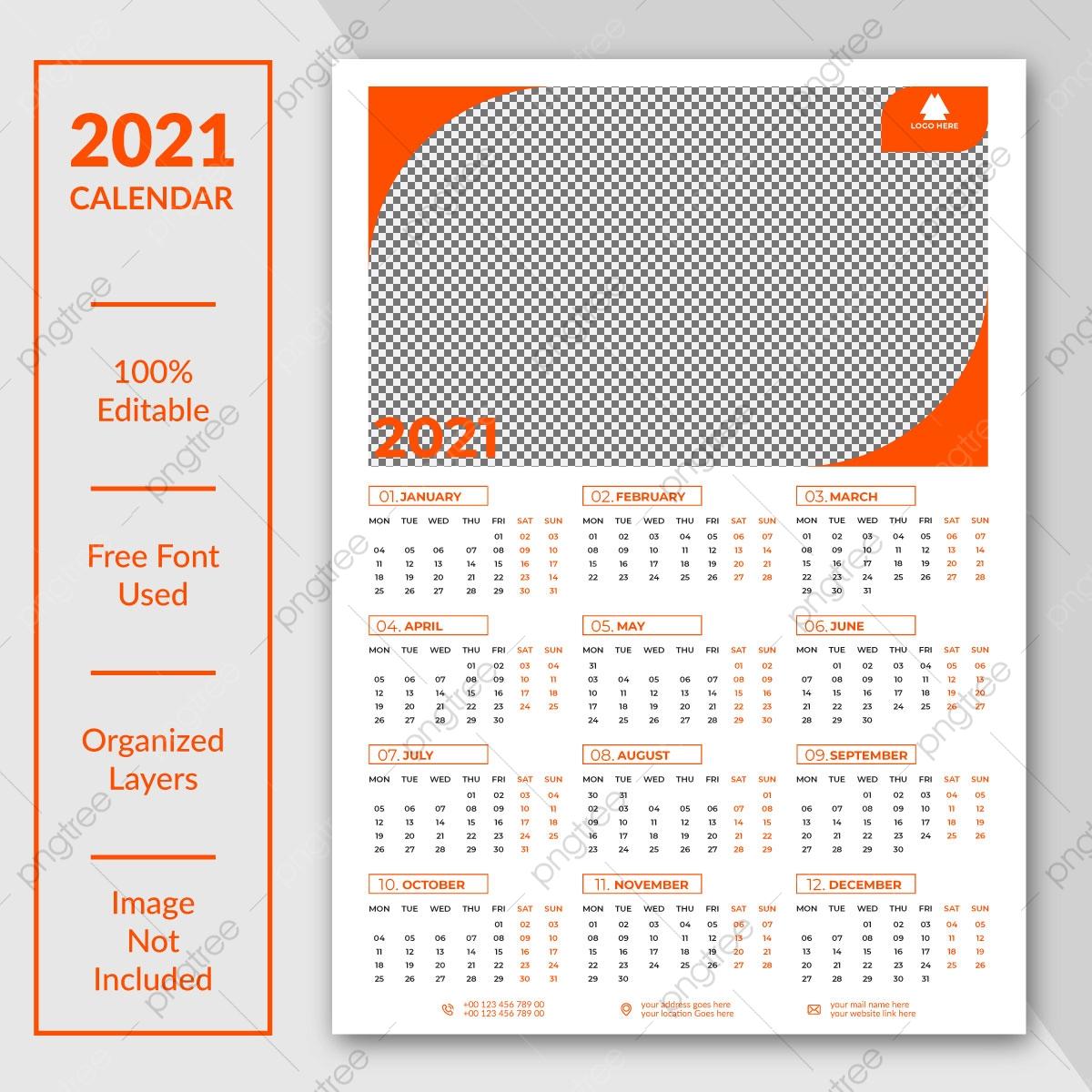 2021 Calendar Template Design Template Download On Pngtree