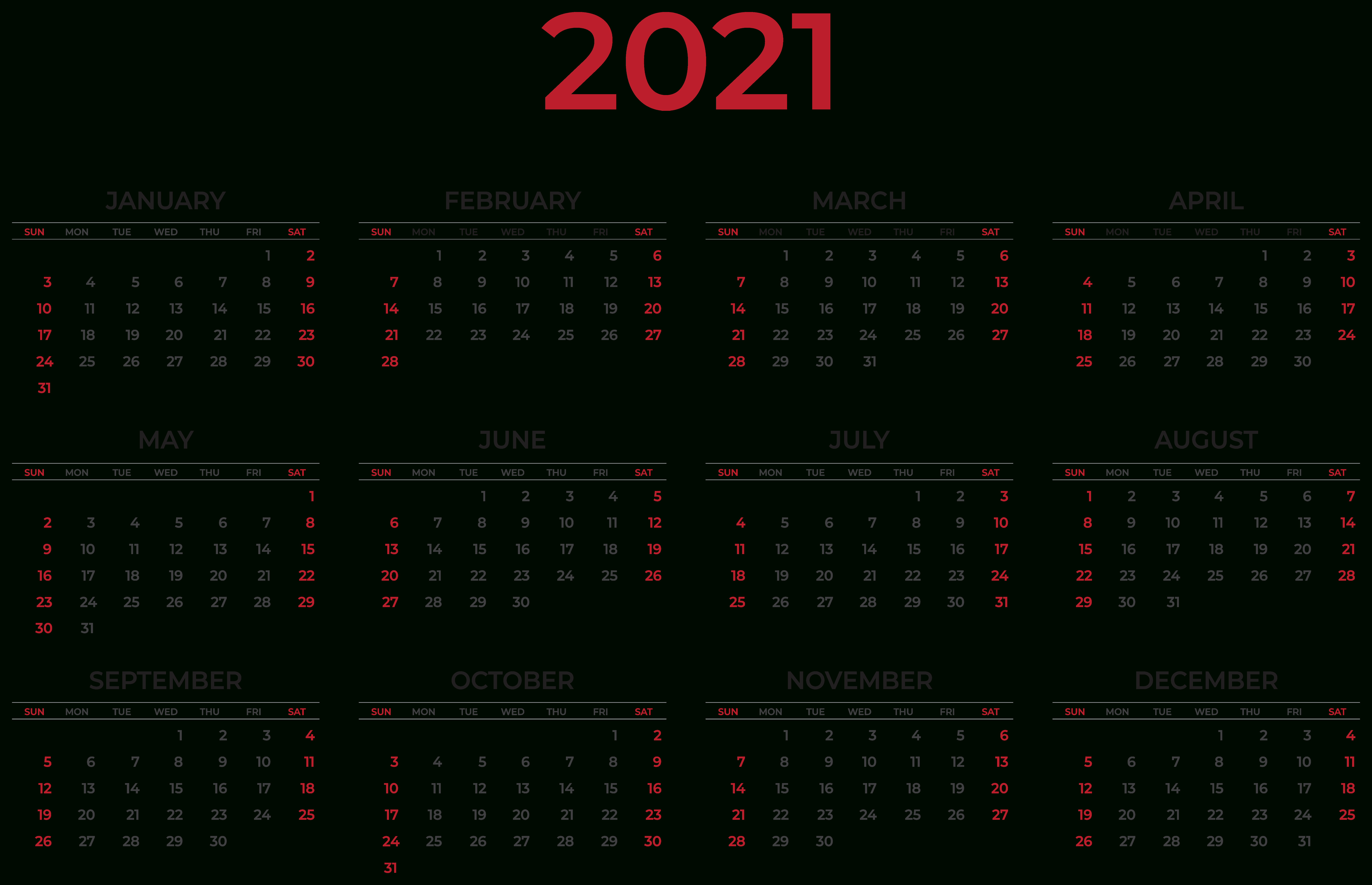 2021 Calendar Wallpapers - Top Free 2021 Calendar