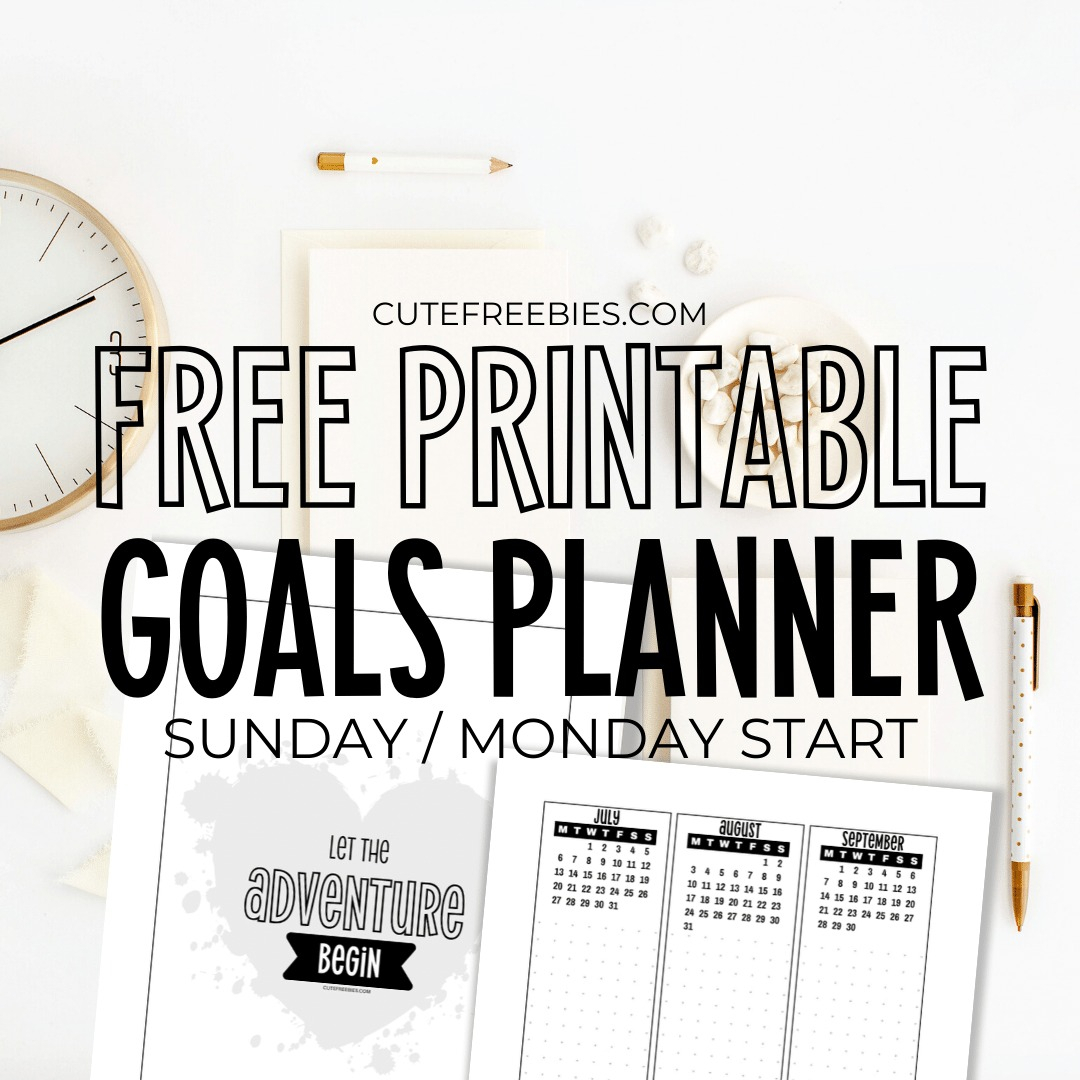 2021 Goals Planner Printable Template For Your Bullet