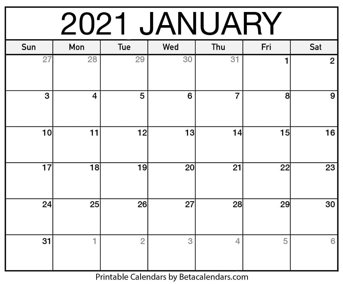 2021 January Calendar | Calendar Printables, June Calendar