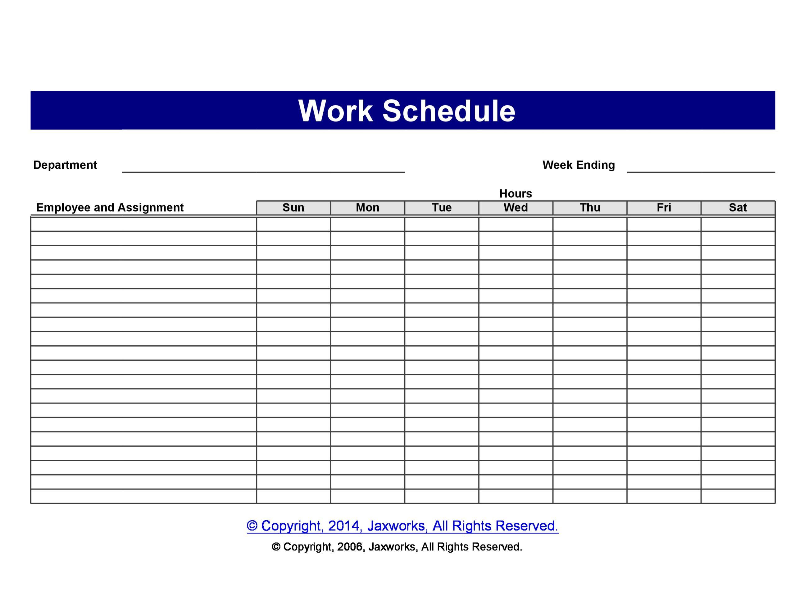40 Free Employee Schedule Templates (Excel & Word) ᐅ