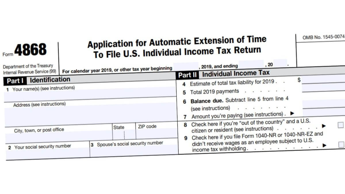 4868 Form 2021 - Irs Forms - Zrivo
