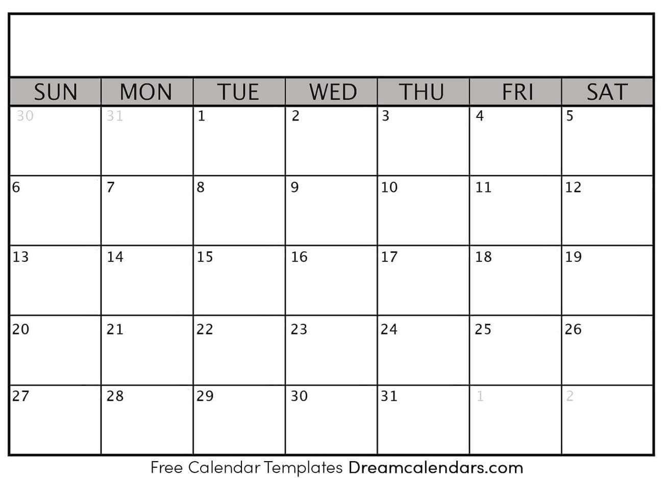 Blank Calendar - Printable Blank Calendar 2021