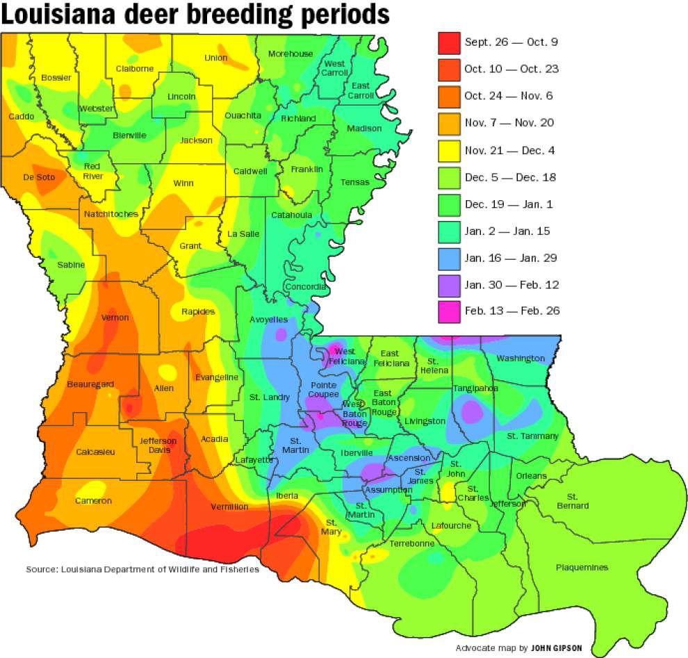 Buck Breeding Calendar Most Complete Ever | Louisiana