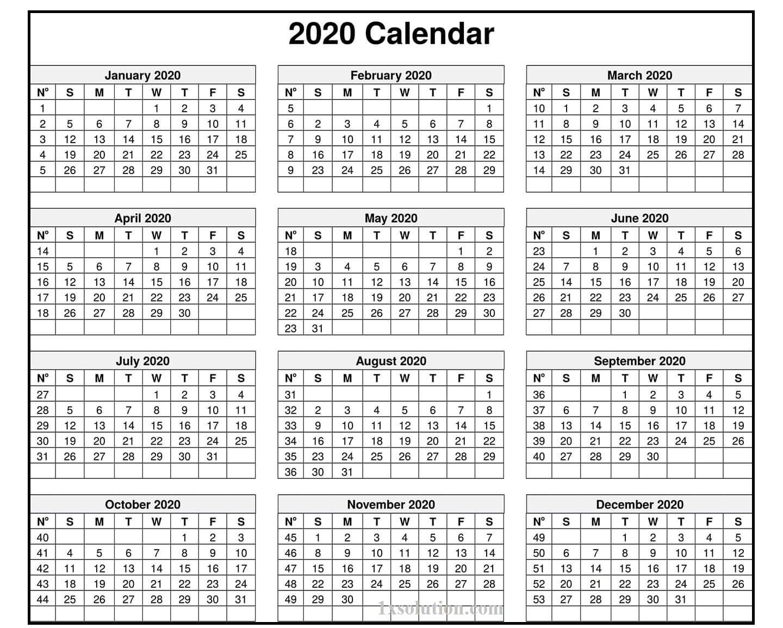 Calendar 2020 Excel Sheet – Note Your Employee Attendance