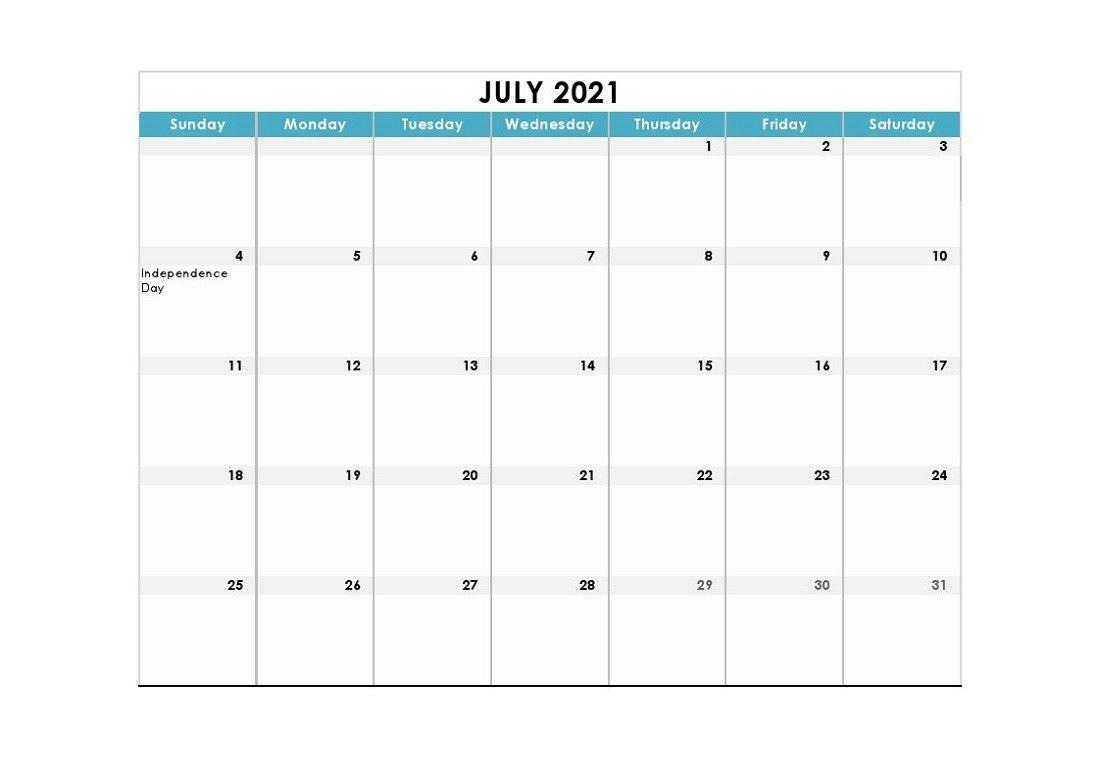 Calendar 2021 Fillable Weekly For Time Saving Printable