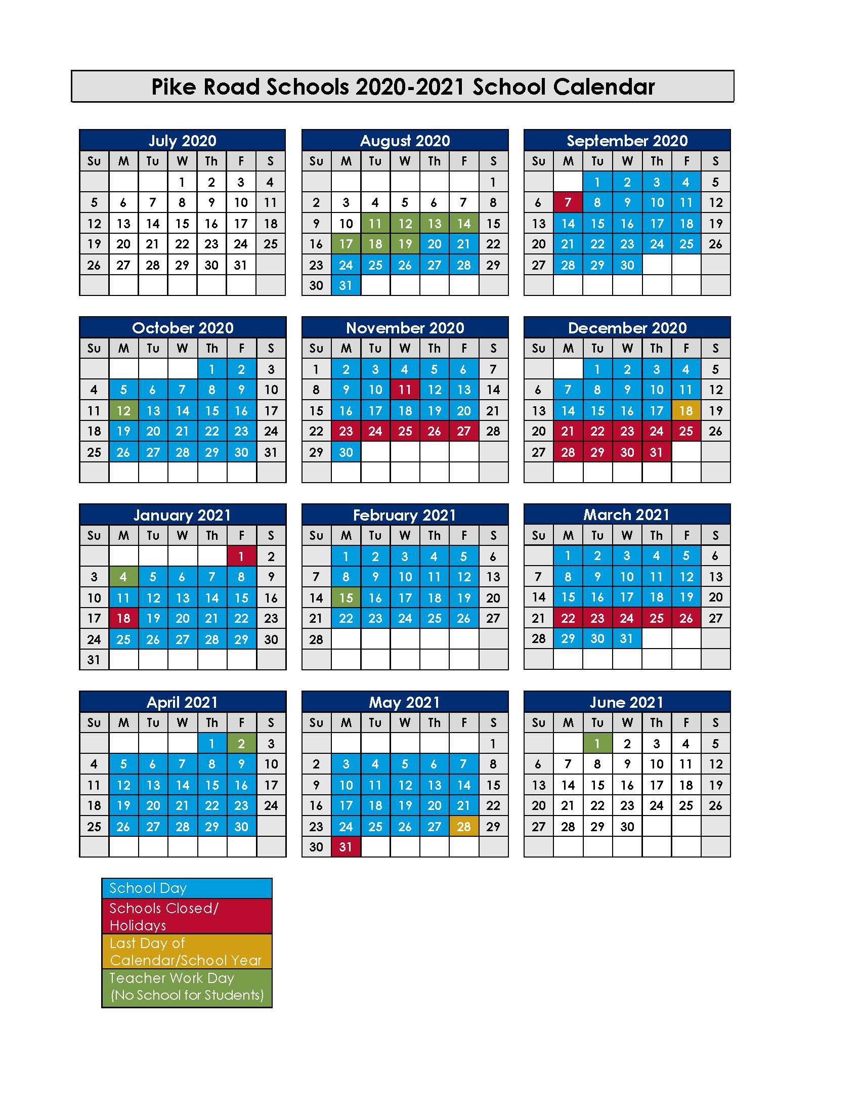 Calendar - Pike Road Schools