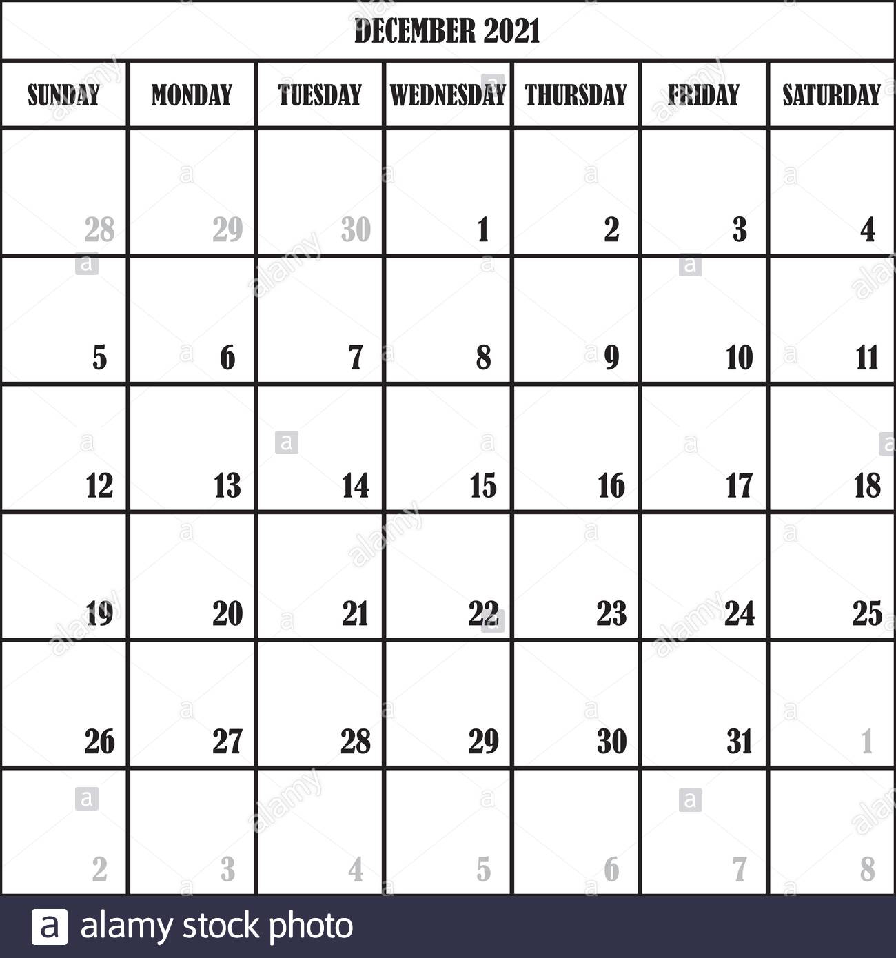 Calendar Planner Month December 2021 On Transparent